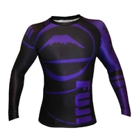 Fuji Freestyle IBJJF Long Sleeve Rash Guard Purple