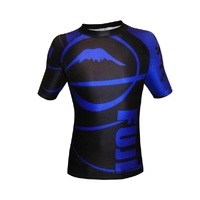 Fuji Freestyle IBJJF Short Sleeve Rash Guard Blue
