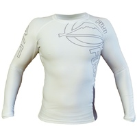 Fuji White Inverted Long Sleeve Rash Guard