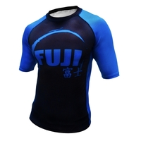 Fuji IBJJF Short Sleeve Ranked Rash Guard Blue