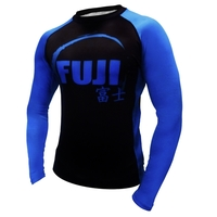 Fuji IBJJF Long Sleeve Rash Guard Blue