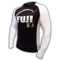 Fuji IBJJF Long Sleeve Rash Guard White