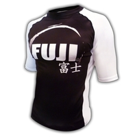Fuji IBJJF Short Sleeve Ranked Rash Guard White