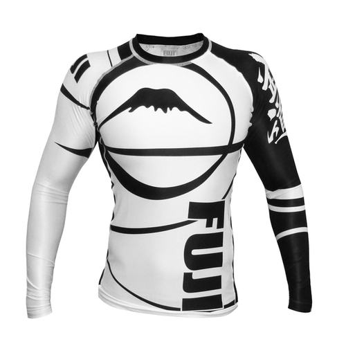 Fuji Freestyle IBJJF Long Sleeve Rash Guard White