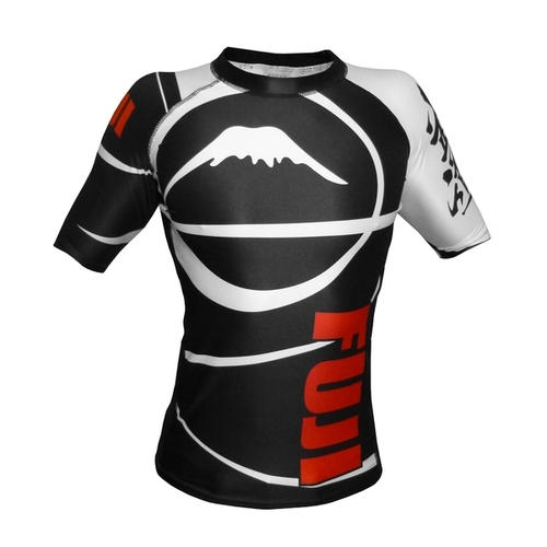 Fuji Freestyle IBJJF Short Sleeve Rash Guard Black
